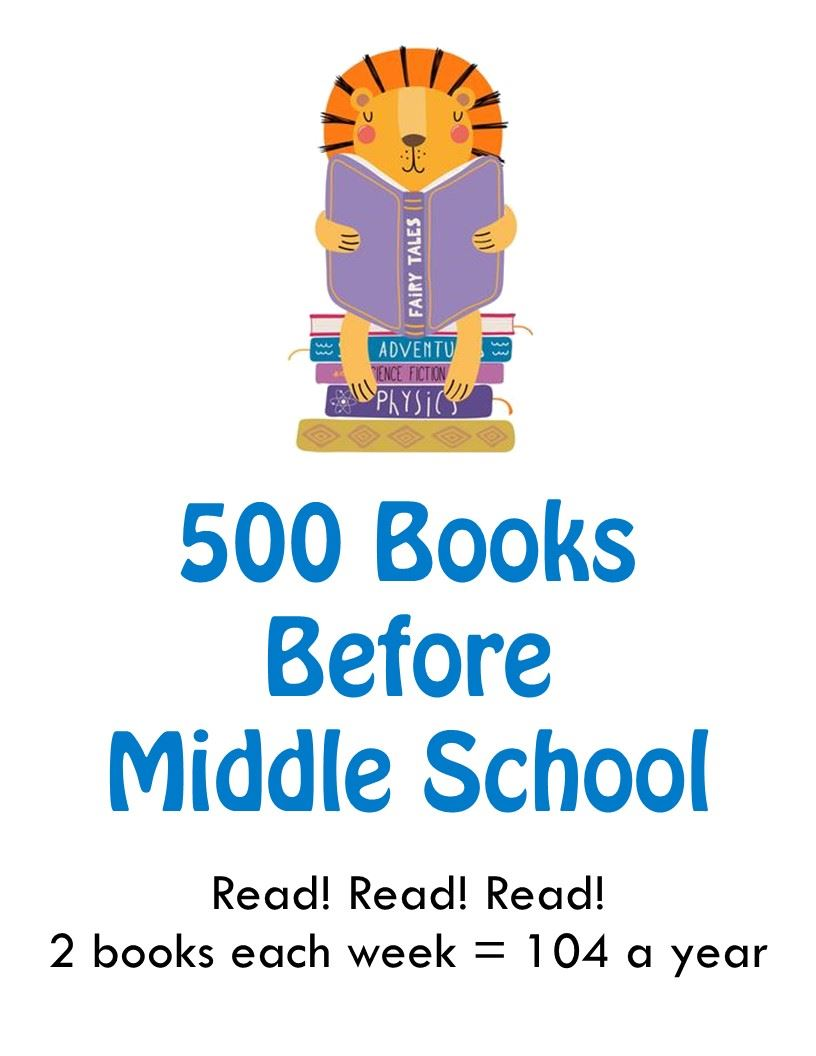 500 Books Before Middle School Challenge